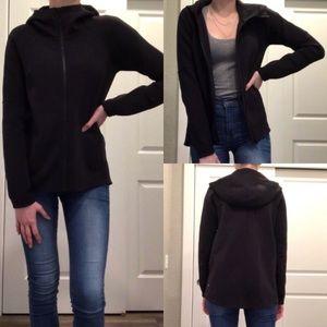Lululemon Black Hooded Long Jacket Size 4